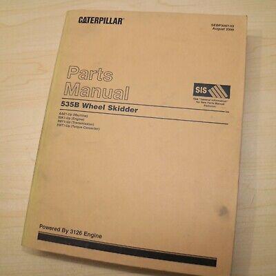 Cat Caterpillar 535b Wheel Skidder Parts Manual Book Catalog Logging Log Spare
