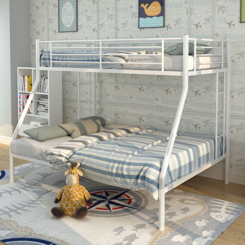 Metal Bunk Bed Twin Over Full Bunk Beds Kids Bed Teens Dorm Bedroom Furniture Bunk Beds For Kids Teens