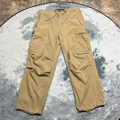 Vintage Abercrombie and Fitch Paratroops Cargo Pants Men's Small Khaki 34 x 30