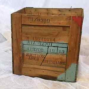 Vintage Wooden Shipping Crate Box with 'BRISBANE' Stamps Brunswick East Moreland Area Preview