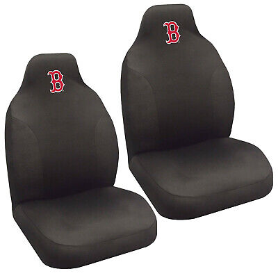 Boston Red Sox Seat Covers (New MLB Boston Red Sox Car Truck Suv 2 Front Bucket Seat Cover Set )