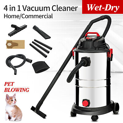 13.2 Gallon Portable Vacuum Cleaner 4in1 Wet Dry Vac Shop 4 Hp Stainless Steel