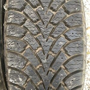 4 almost new 195/70R14 Goodyear Nordic Winter tires