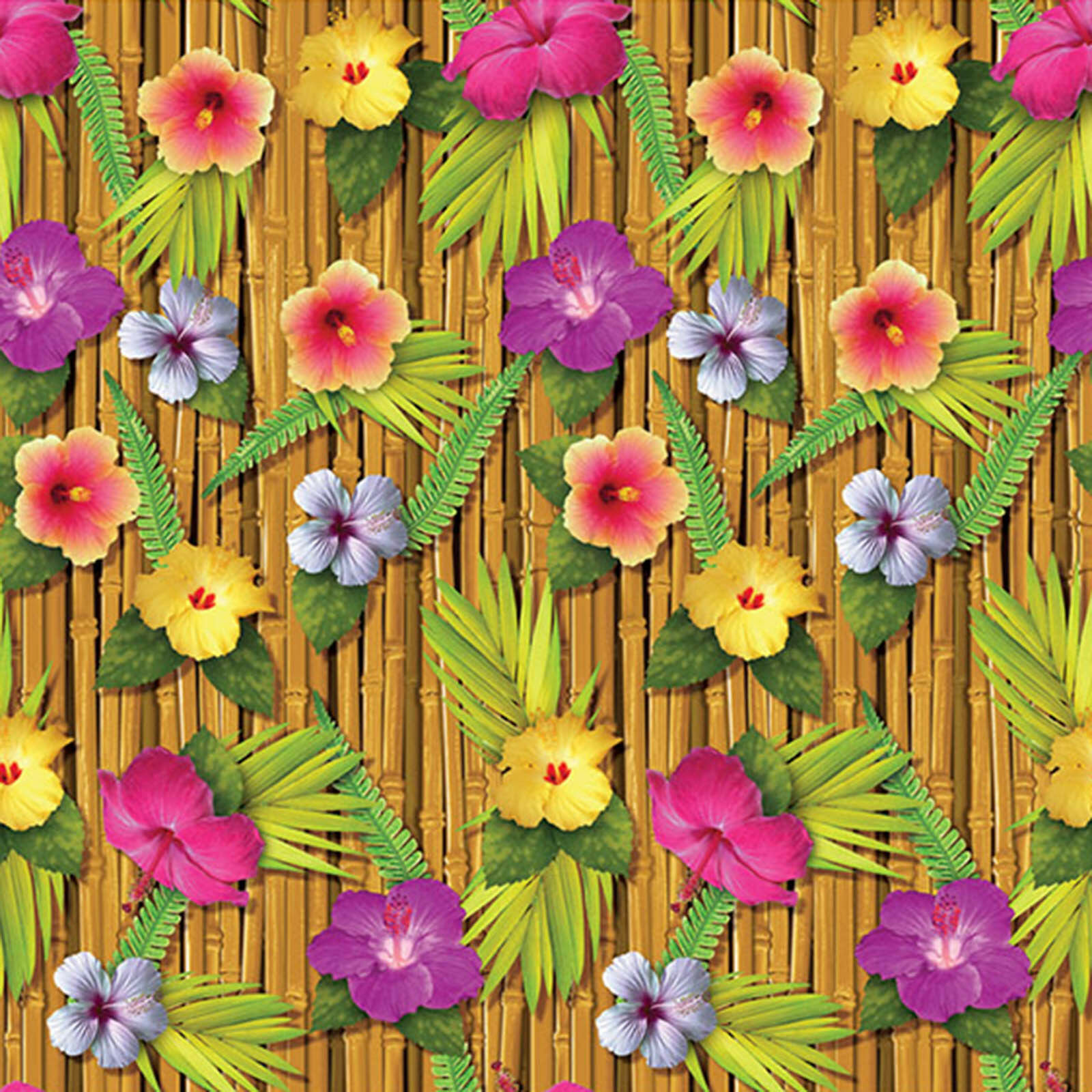 Tropical Luau Party Scene Setter Room Roll Backdrop