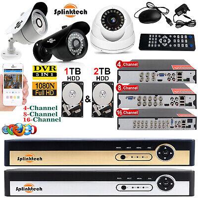 4/8/16 CHANNEL SMART CCTV DVR DIGITAL VIDEO RECORDER SECURITY SYSTEM KIT+1/2 HDD - Home Security Digital Video Recorder