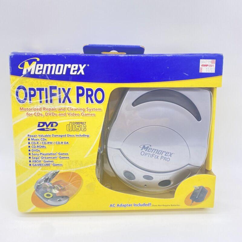 Memorex Optifix Pro Motorized Media CD Disc Cleaning & Repair DVD Missing Repair