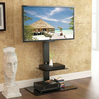 "Corner Floor TV Stand With Swivel Mount Fit 32""42""55""60""65 inch Flat Screen TV"