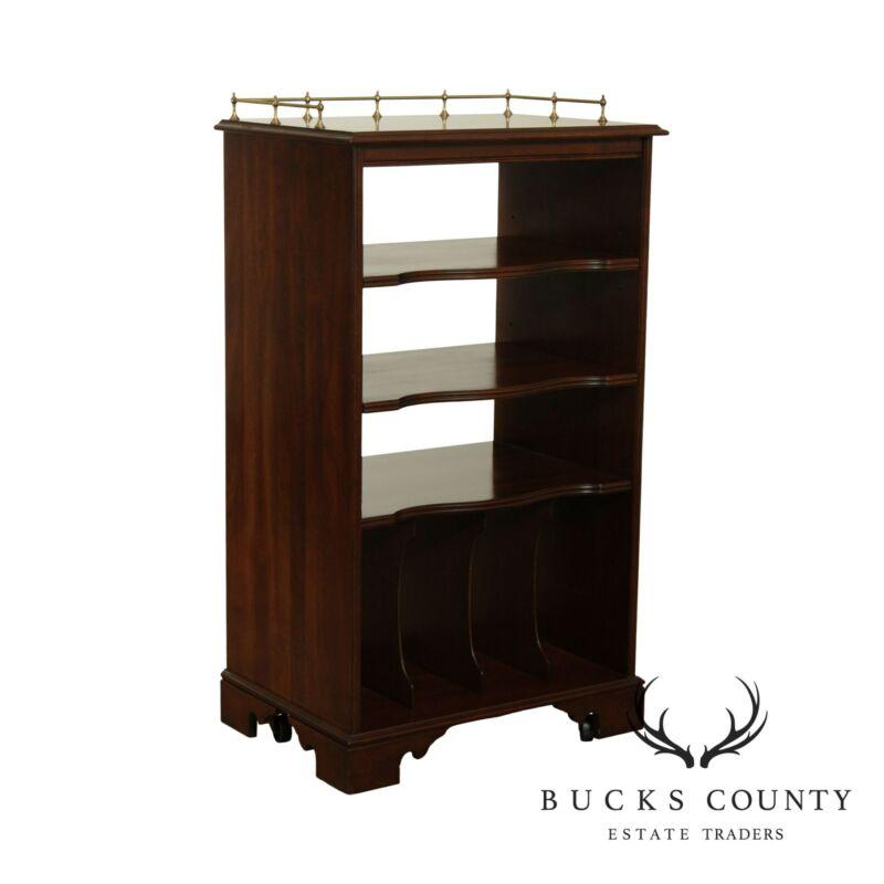 Ethan Allen Georgian Court Cherry Record Cabinet Bookcase