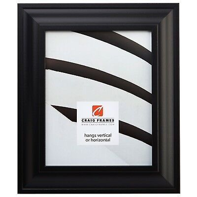 "Craig Frames Contemporary Upscale 2/"" Satin Black Picture Frame 21/"" 22/"" Sizes"