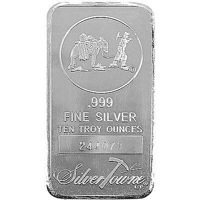 SilverTowne Logo 10oz .999 Fine Silver Bar #4201