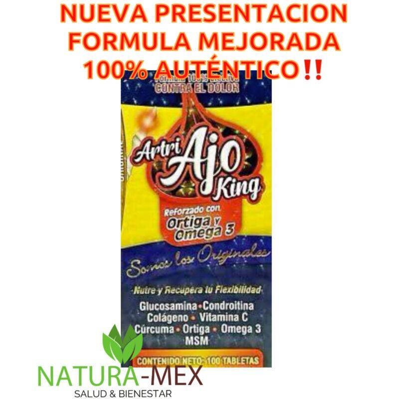 👑 ARTRI AJO KING ORIGINAL‼️Ortiga Omega 3, Curcuma Collagen 100 Tabs