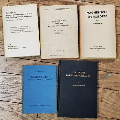 5 - 1940s-50s MAGNETISM WERKSTOFFE Ferro Dameron Fischer Pawleys GERMAN BOOKS