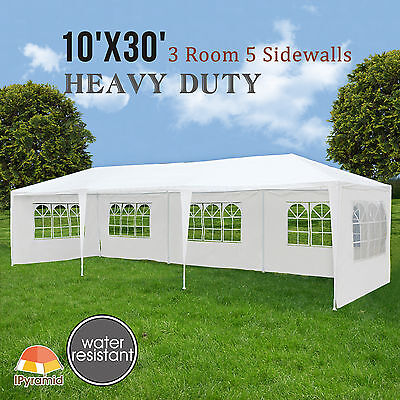 10X30 Canopy Party Wedding Tent Outdoor Gazebo Heavy Duty Pavilion Event New