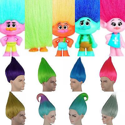Elfen / Pixie / Troll Farbige Perücke Film Stil Erwachsene Kinder Kostüm (Erwachsenen Troll Kostüm)