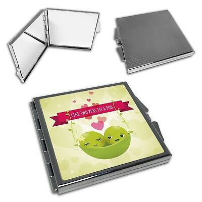 Like Two Peas In A Pod Funny Cute Square Compact -
