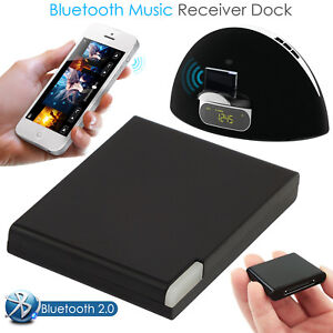 30 Pin Bluetooth Wireless Music Receiver Adapter Dock  Audio For iPhone iPod