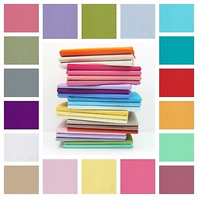 Plain 100% Cotton Fabric Material Quilting Fashion Craft Sheeting Metre