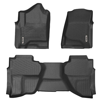 Floor Mats Liners For Chevy Silverado/Sierra 1500/2500HD/3500HD All-Weather