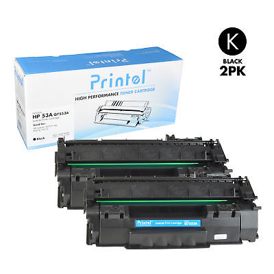 Printel Brand New Replacement Toner Cartridge for HP 53A (Q7553A) Black (2 Pack) for sale  Shipping to India