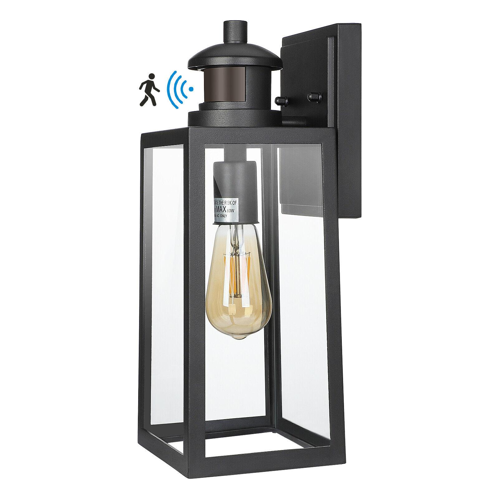 DEWENWILS Outdoor Wall Light Fixture Motion Sensor Wall Sconce Light Porch Lamp