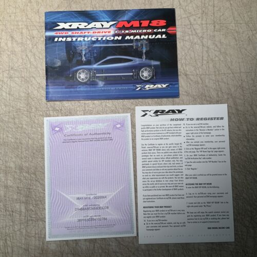 Vintage Team XRAY M18 Instruction Manual - $15.99