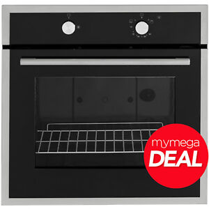 MyAppliances REF28805 60cm Built-in Single Gas Oven Black / Stainless Steel