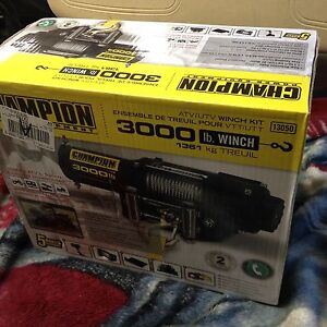3000 lbs winch 12v kit new