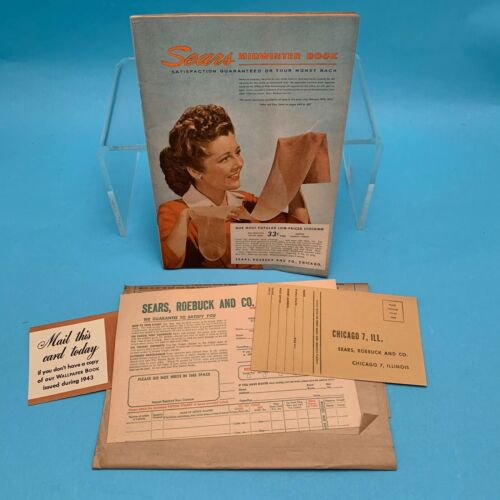 1944 Sears Roebuck Mid Winter Catalog with Order Forms & Mailing Sleeve