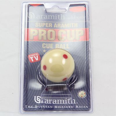 Aramith Pro Cup Red Spotted Pool Cue Ball 1 78 Inch 47.6mm