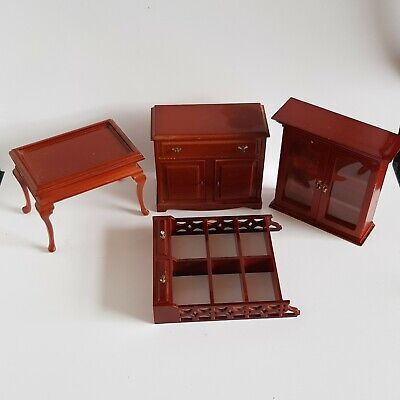 Vintage dolls house furniture plastic cupboard unit shelves .. Lundby ?