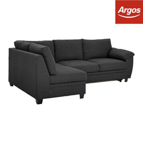 Habitat Hyde 3 Seater Heringbone Sofa Bed Charcoal Ebay