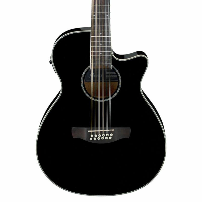 Ibanez AEG1812IIBK AEG Series 12-String Acoustic Electric Guitar in Black