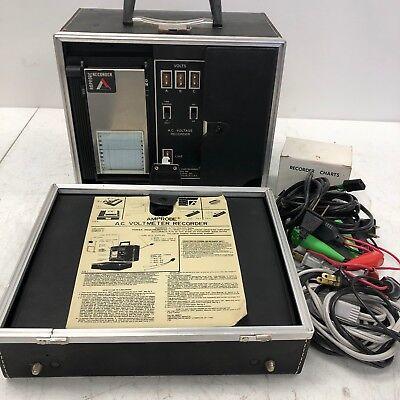Vintage Amprobe Ac Voltmeter Recorder 986750 In Case Tested Working