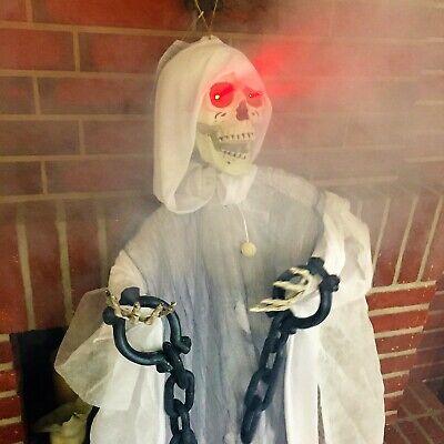 mit FERNBEDIENUNG BEWEGT SICH LED Skelett Geist animiert - Animierte Halloween Skelett