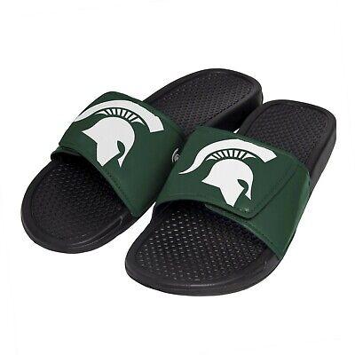 Michigan State Spartans NCAA Men's Cropped Big Logo Flip Flop,Sandal FREE SHIP! - Michigan State Spartans Logo