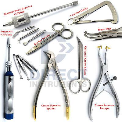 Medentra Dental Crown Removal Instrument Kit Bridge Remover Spreader Pliers New