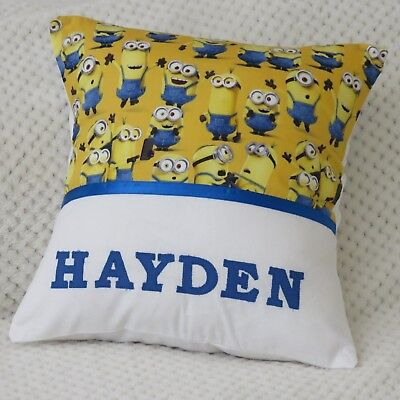 MINIONS Child's/Boys/Girls Personalised Name Character Cushion Cover/GIFT - Minions Character Names