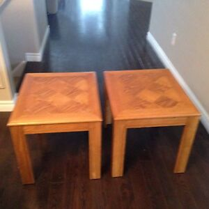 Wooden end tables Cambridge Kitchener Area image 1