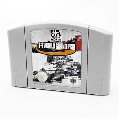 Nintendo 64 F1 World Grand Prix N64 Cartridge Game PAL Formula 1 Racing