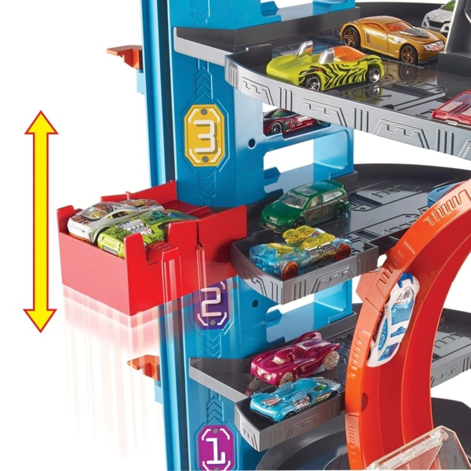 Details About Kids Toy Garage Boys Play Hot Wheels City Ultimate 2 Lifts 90 Cars E