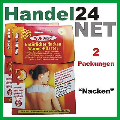 2 x WundMed Wärmepflaster Nacken- Muskelschmerzen Rückenschmerzen und Zerrungen