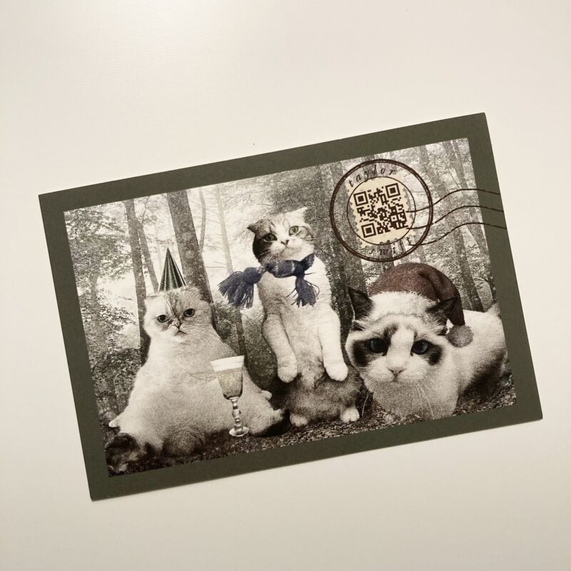 Taylor Swift Cats Holiday Postcard