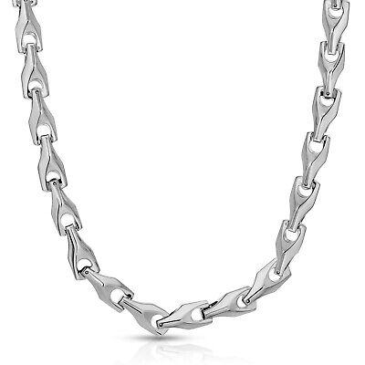 Tungsten Mens Necklace (HEAVY BIKER TUNGSTEN CARBIDE MEN'S 9.0 MM NECKLACE (TUC 001) - FREE)