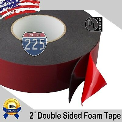 2 Wide Double Sided Acrylic Foam High Strength Adhesive Tape 60 Foot Roll Usa