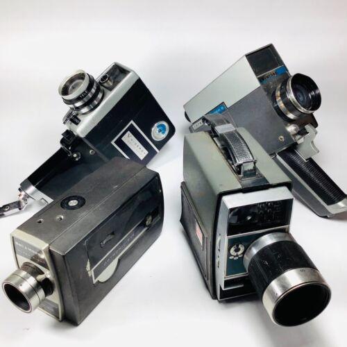 Lot of 4 Vintage Movie Cameras Viceroy Keystone Kodak Bell & Howell 8mm Film VTG
