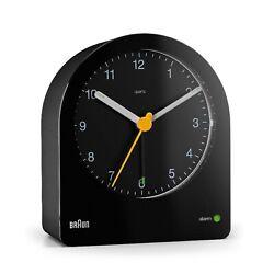 Braun BN-BC022B Black Backlit Continuous Backlight Analog Quartz Alarm Clock