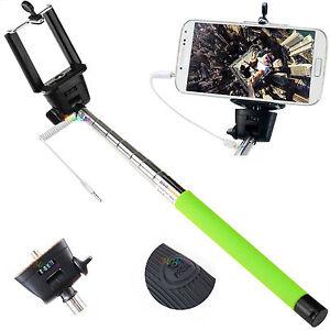 supporto selfie con cavo jack telescopico iphone android foto asta fotocamera ebay. Black Bedroom Furniture Sets. Home Design Ideas