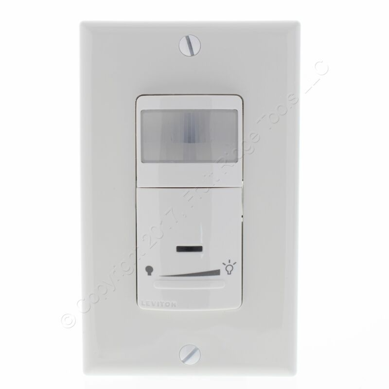 New Leviton White Dimming Motion Sensor 1-Pole/3-Way Switches On/Off IPSD6-ODW