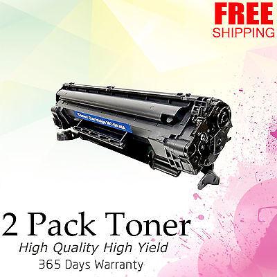 2PK Generic CB436A 36A BLACK Toner For HP LaserJet M1522n M1522nf P1505 P1505n