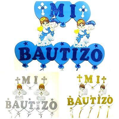 Baptism Favors Banner Boy Mi Bautizo Wall Decoration - Boy Favors